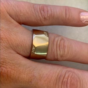 Michael Kors rose gold ring with diam,worn 2x,sz 6